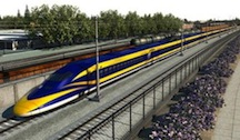 Rendering of high-speed rail