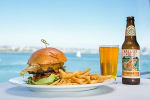 Burger, fries and a beer.