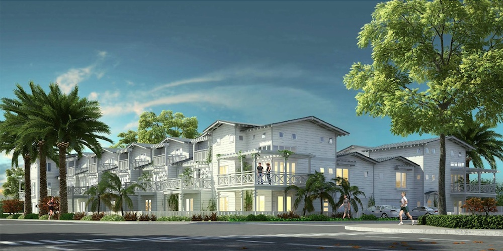 An artist's rendering of Montaño's 14 townhomes in Carlsbad.