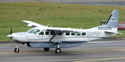 Passengers will fly in the nine-passenger Cessna Caravan aircraft.