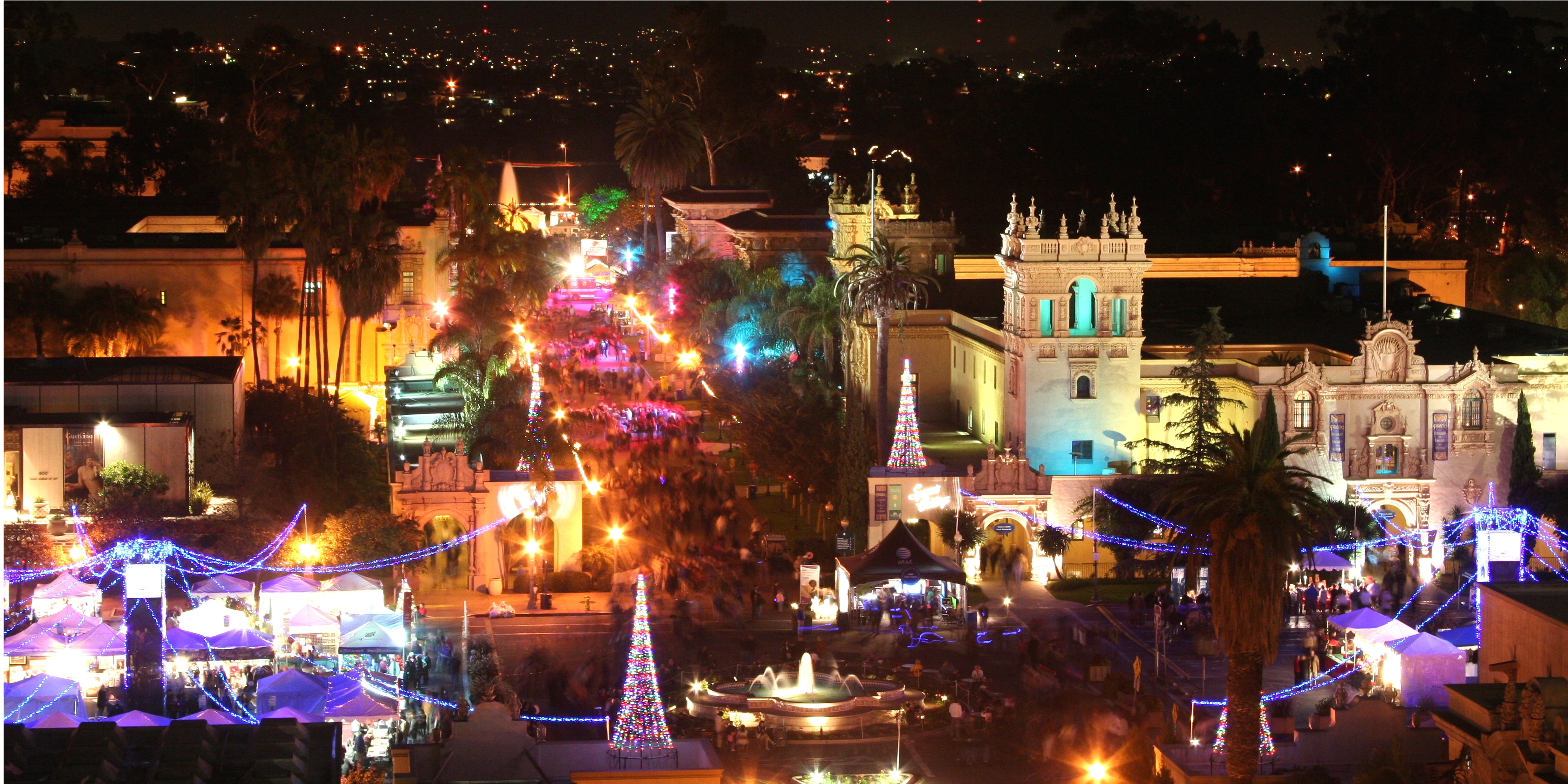 Balboa Park all lighted up