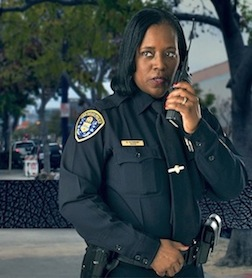 San Diego Police Detective Brenda Richmond in promotion for the San Diego Police Foundation.