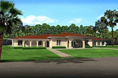 Rendering of the Fisher House that will be built at Camp Pendleton.