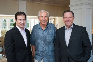 L'Auberge Del Mar history makers: Shaun Beucler, James Watkins and Mike Slosser.