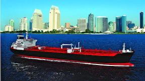 Artist's rendering of a SEA-Vista tanker.