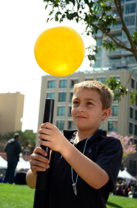 Experiment with a balloon