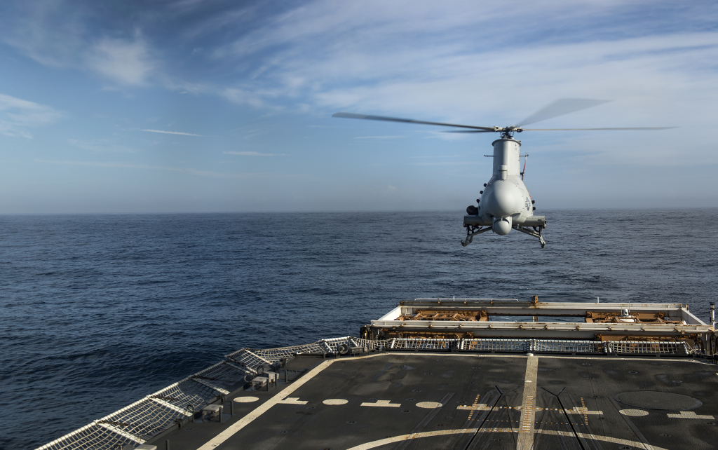 A Fire Scout was recently deployed with a Navy littoral combat ship in San Diego.