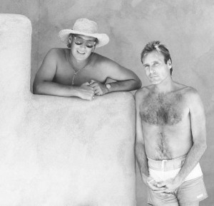 Classic photo of Loren Nancarrow and Larry Himmel circa 1986.