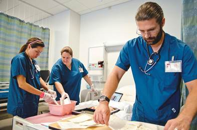 Most students from San Diego City College's nursing program have jobs before they graduate.