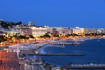 Travelers will first arrive in Cannes on France's Mediterranean coastline.