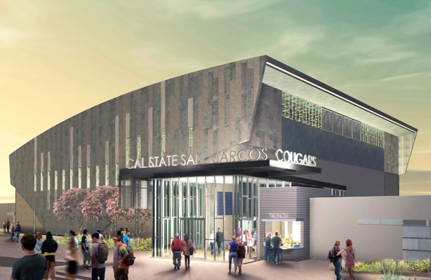 Rendering of the Sports Center at Cal State San Marcos