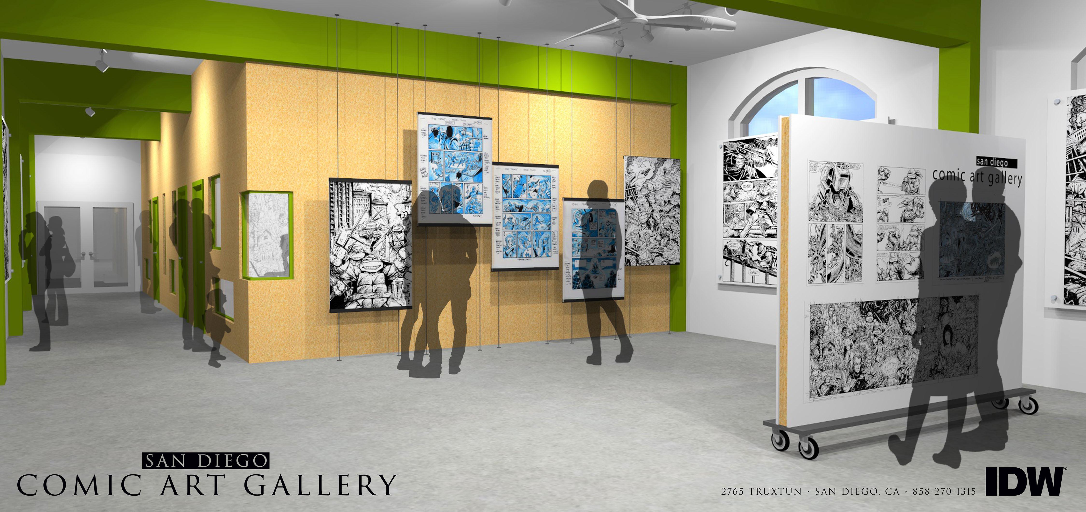 Rendering of the San Diego Comic Art Gallery.