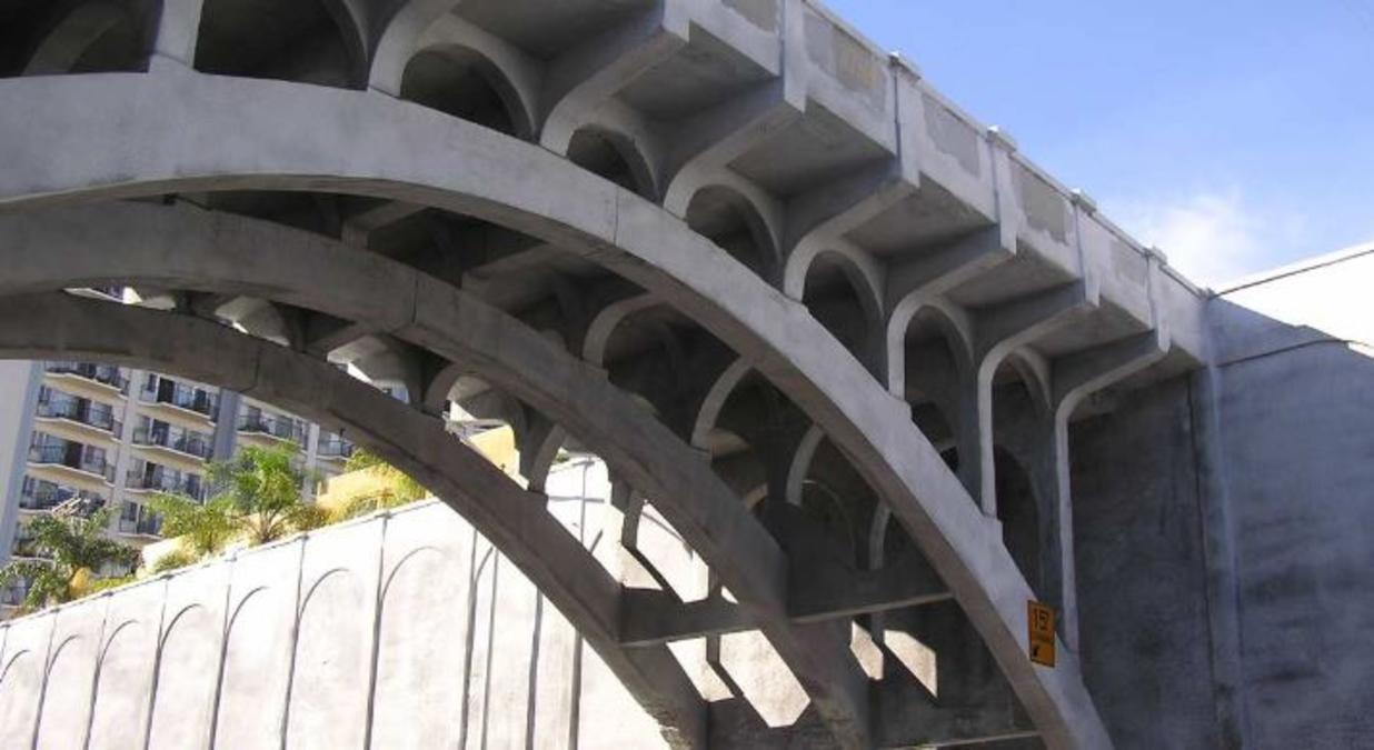 The Georgia Street Bridge was initially constructed in 1914.
