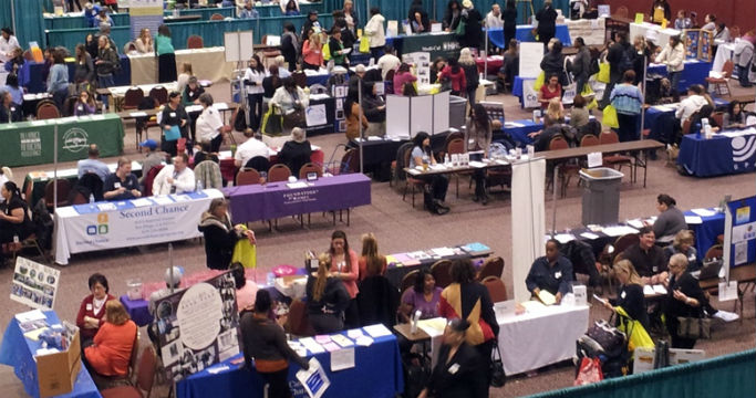 Scene from Women's Resource Fair last year.