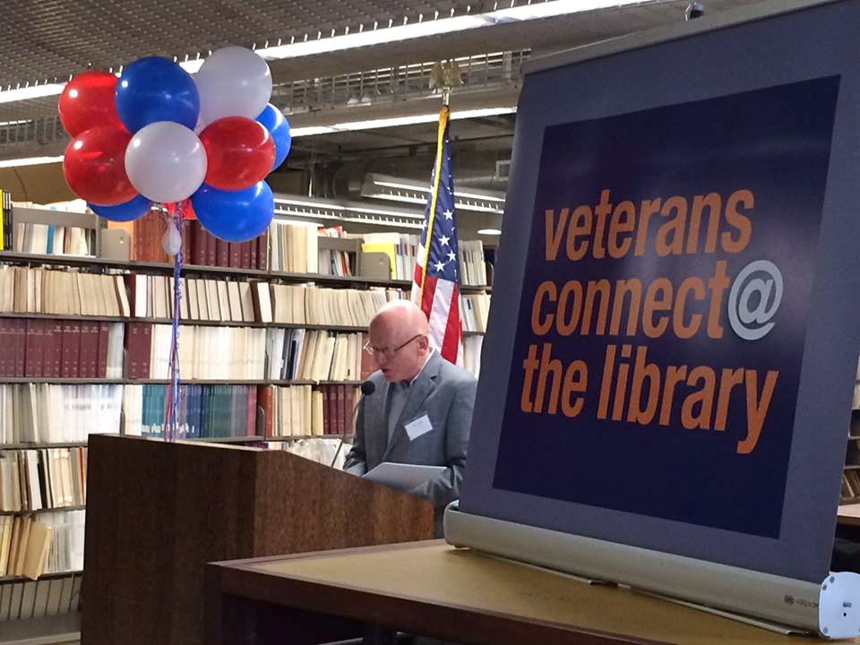 The grand opening of a California Department of Veterans Affairs resource center at the Central Library downtown. (Photo courtesy of SDPL)