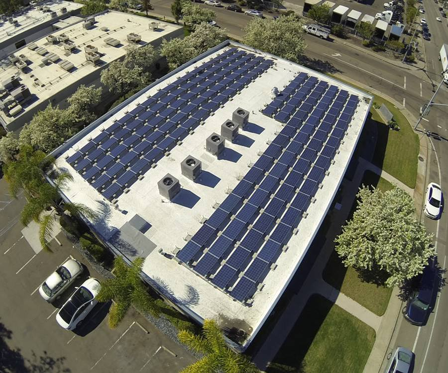 A total of 176 solar panels were installed on the roof of the building