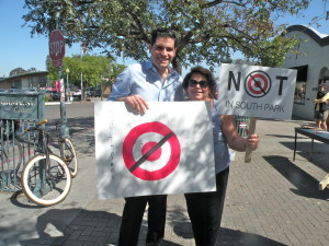 Mark Arabo, president and CEO of the Neighborhood Market Association, and South Park resident Judy Aboud