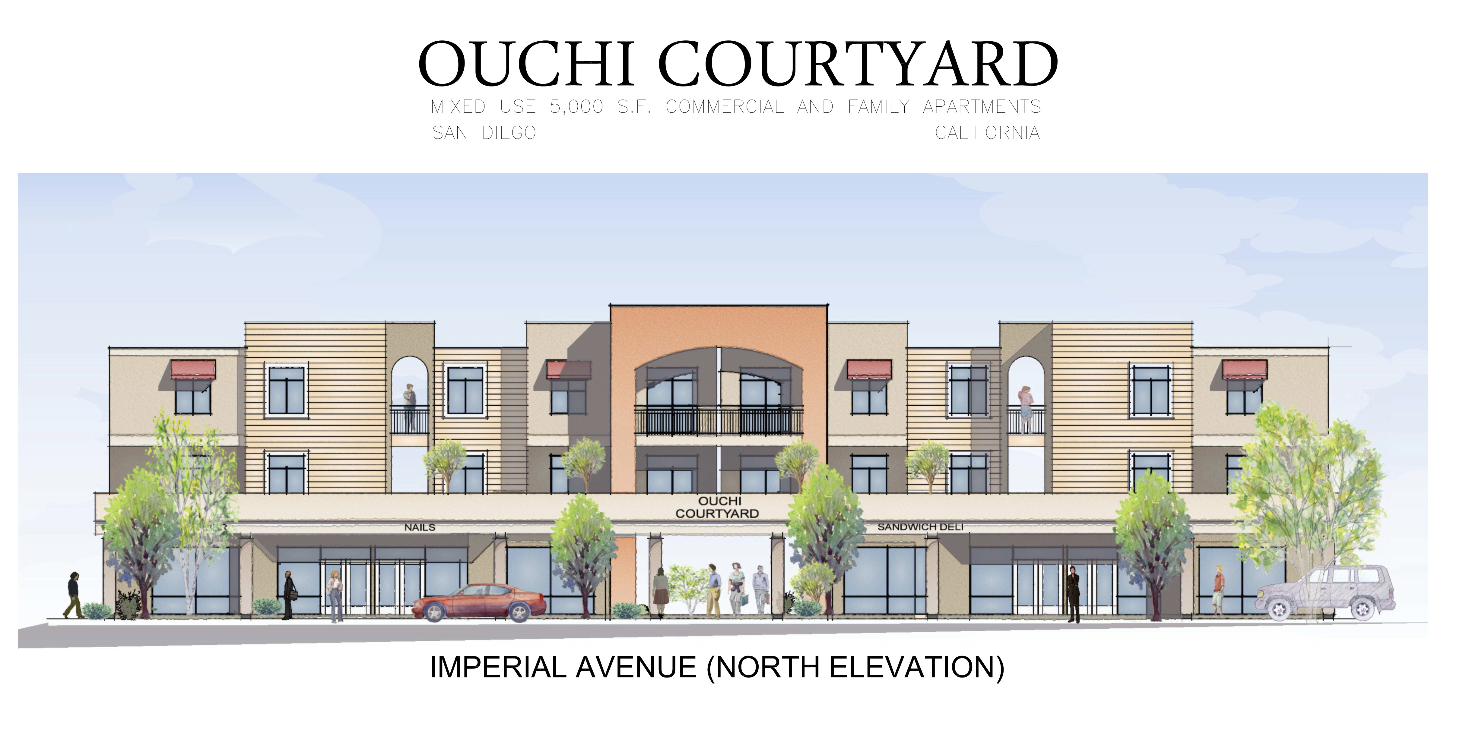 Rendering of the Ouchi Courtyard
