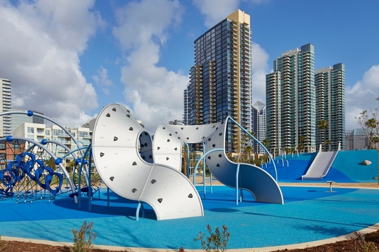 The Waterfront Park playground