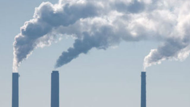 Smokestacks emitting greenhouse gases. Photo courtesy Environmental Protection Agency