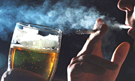 The study found that nicotine exposure actually promotes alcohol dependence.