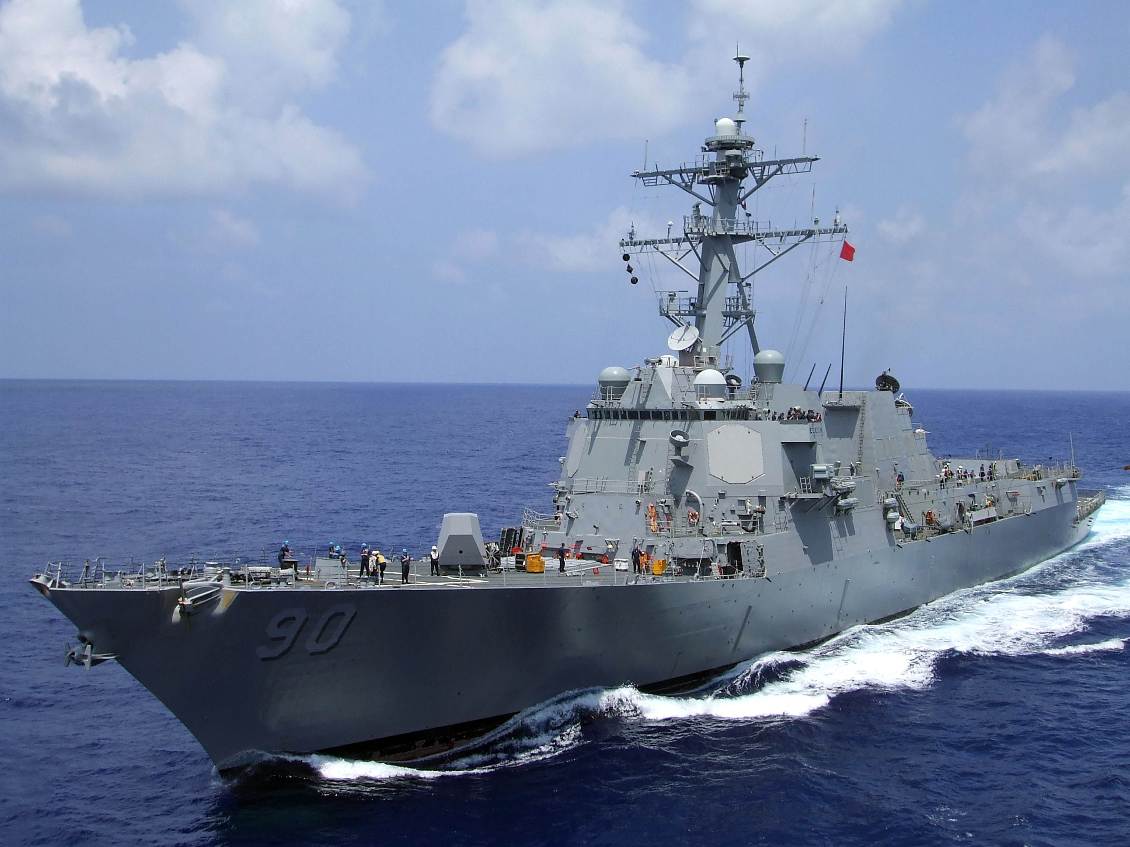 Guided missile destroyer USS Chafee