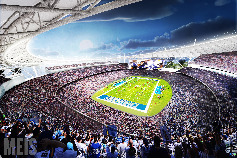 Stadium interior rendering