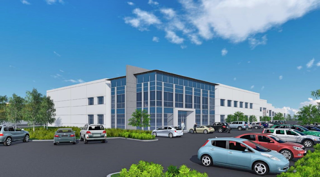 Rendering of industrial project to be developed by SR Commercial in Carlsbad.