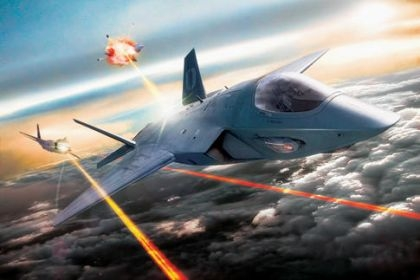 Laser weapon simulation