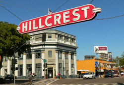 Hillcrest business sector