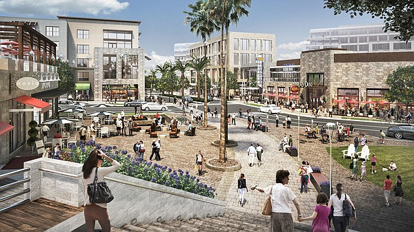 One Paseo West Plaza rendering