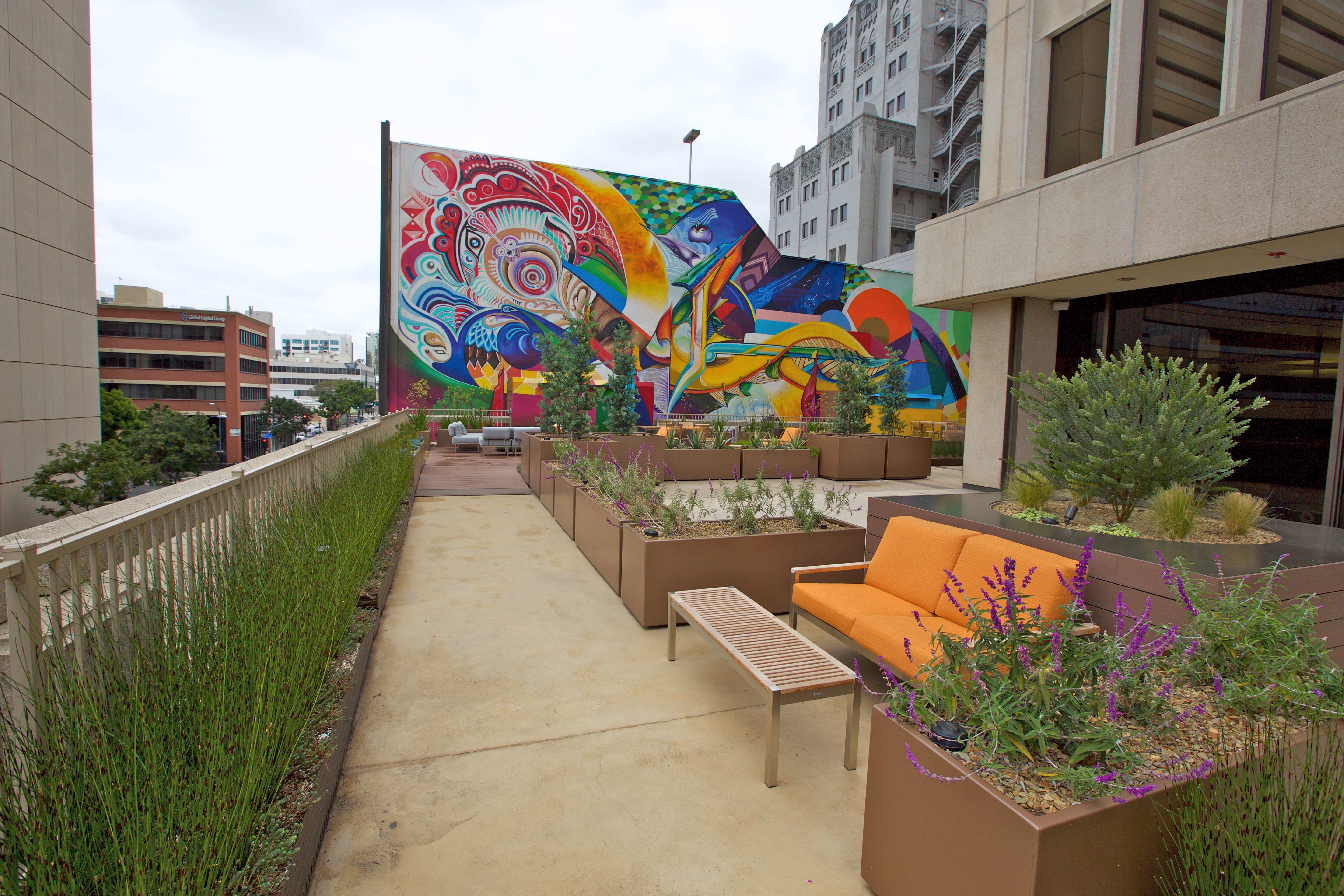 B Street Sky Terrace project by Benchmark Landscape Services Inc.