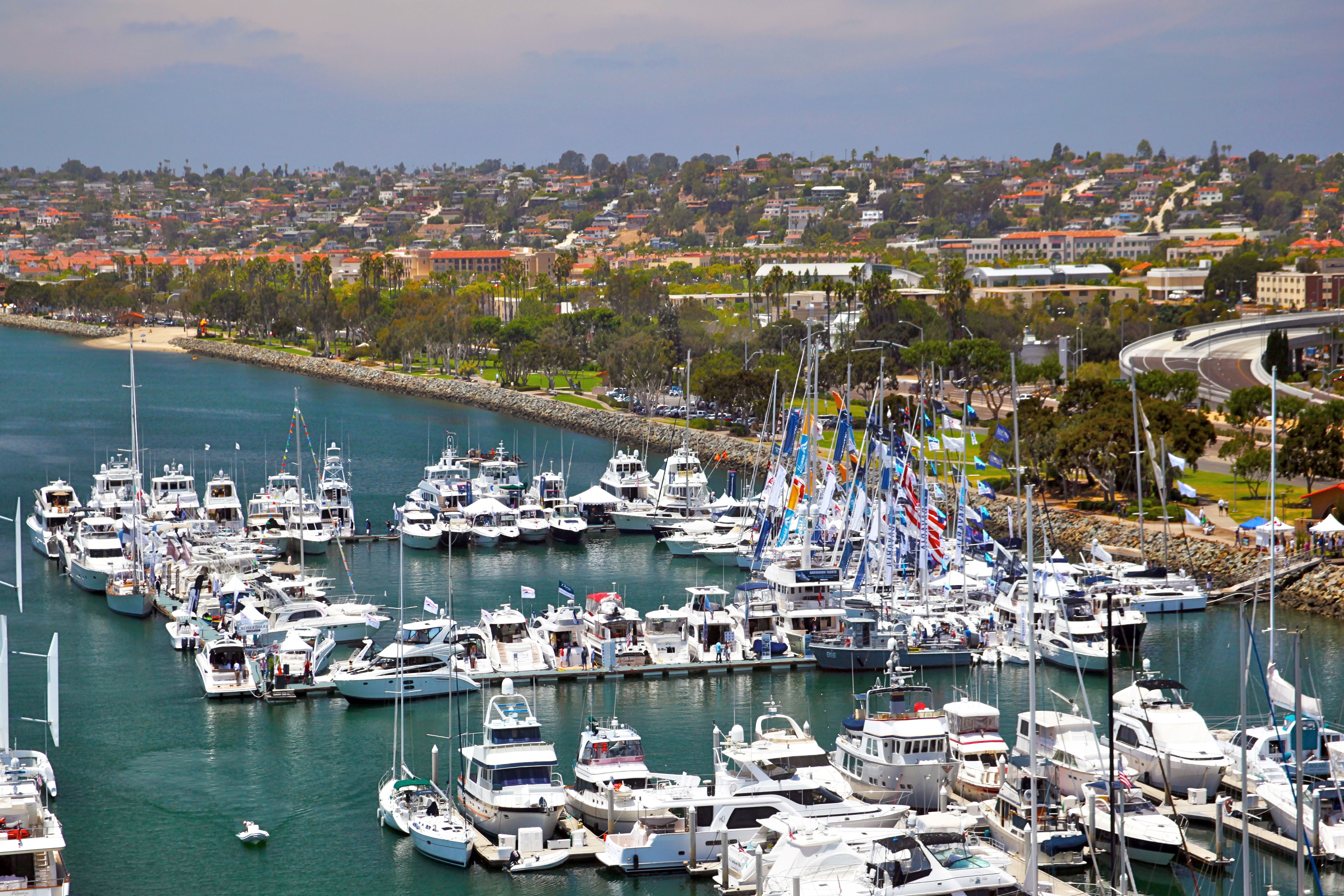 The boat show will be held at the Sheraton Marina on Harbor Island.