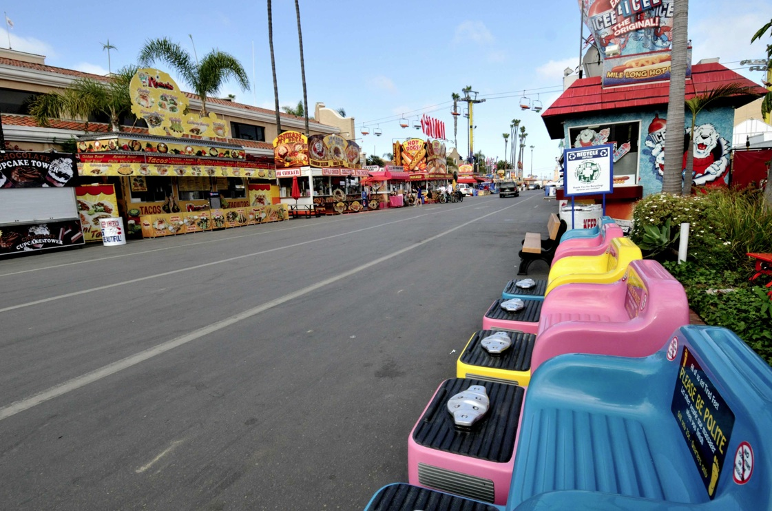 The midway of the San Diego County Fair in Del Mar won't be empty long.