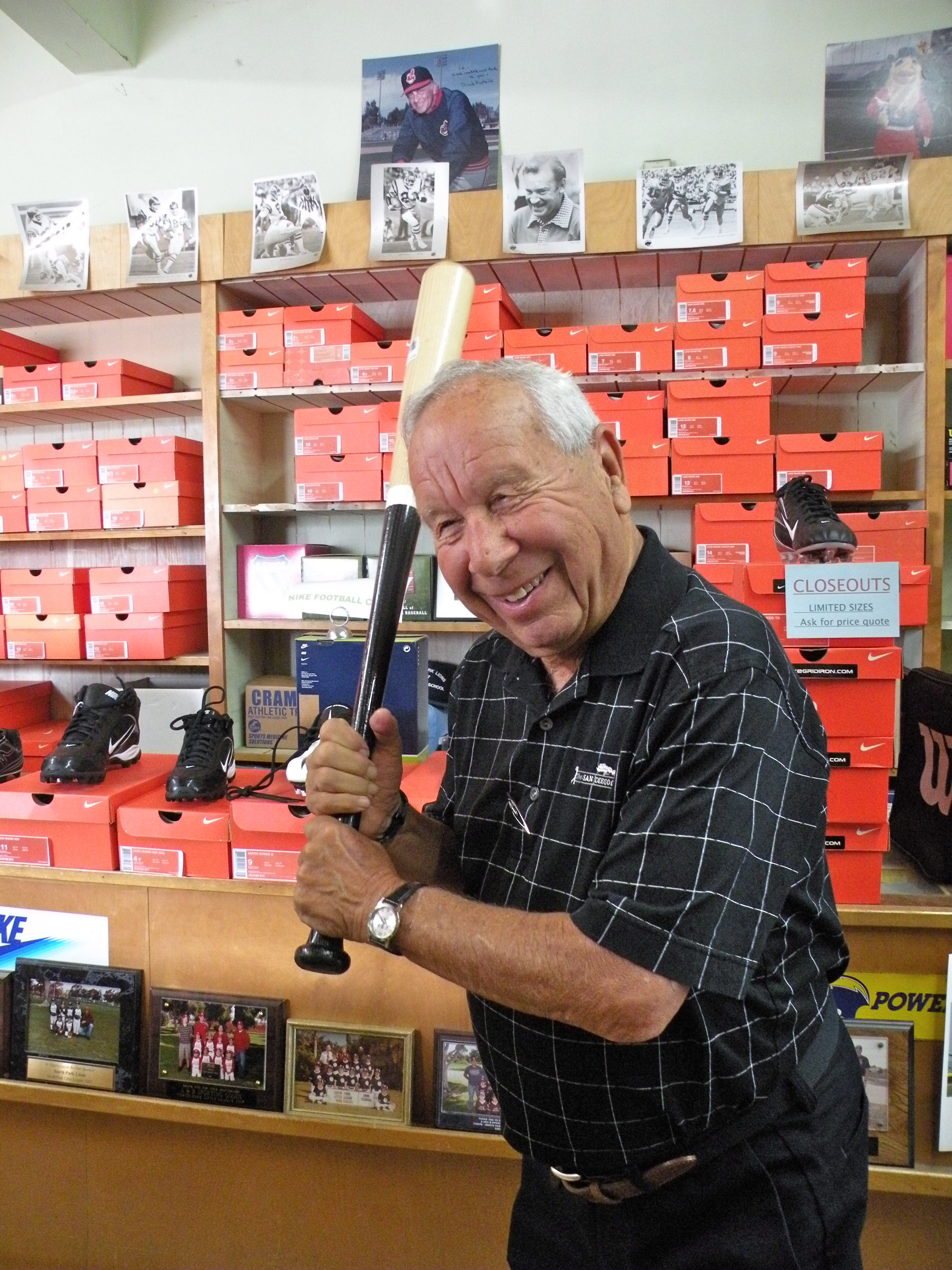 Joe in his A&B Sporting Goods store in North Park