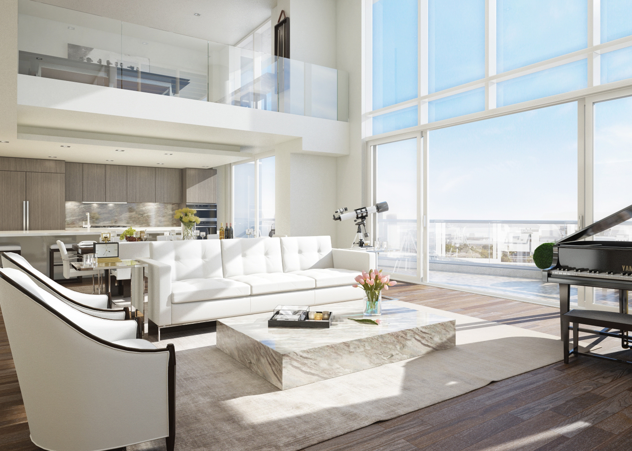 Rendering of the penthouse that will be in the project. Four penthouses will be featured.