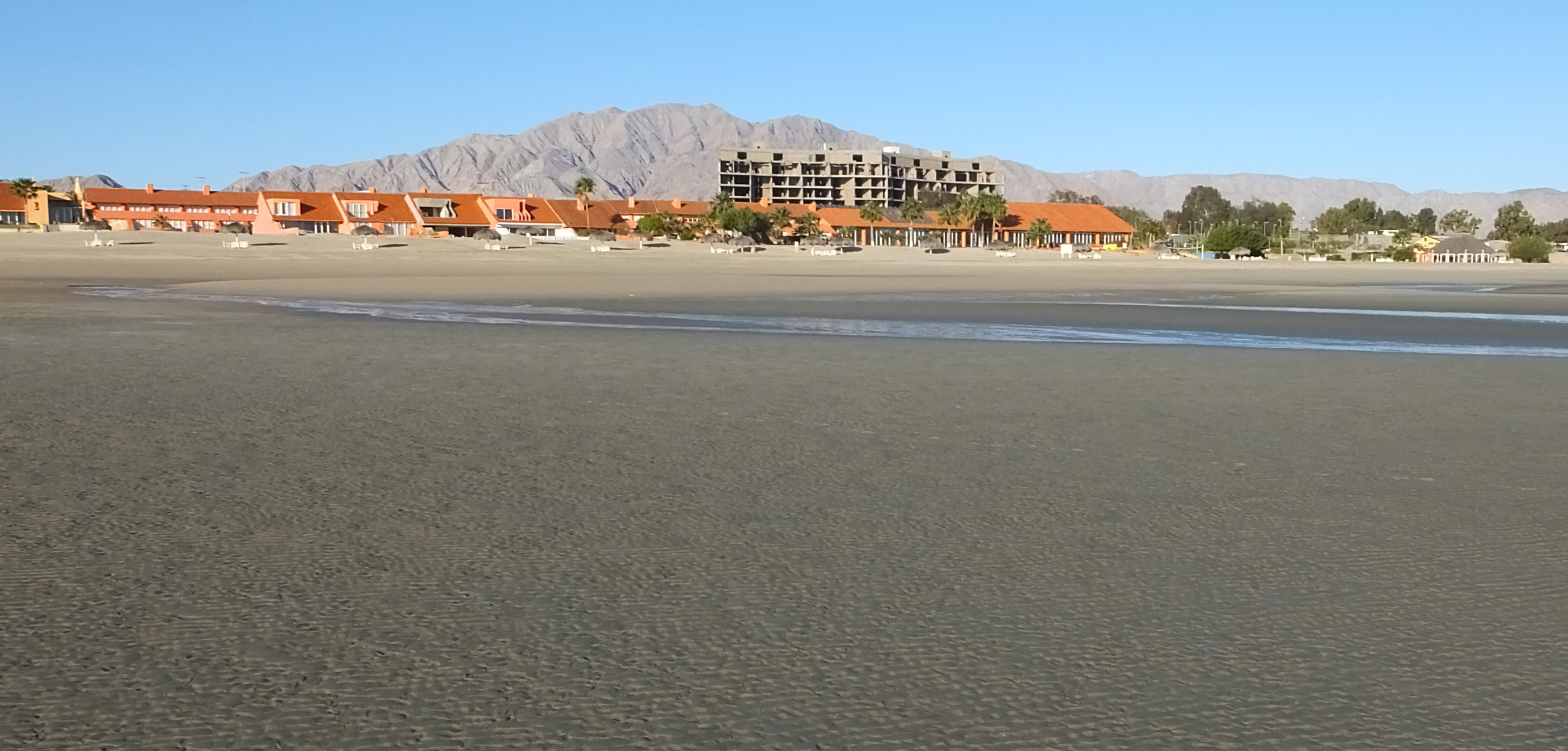 San Felipe Resort and Marina at low tide.