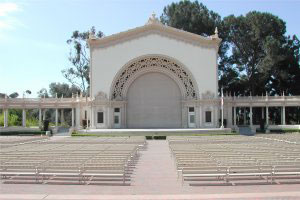 The Spreckles Organ Pavilion was reported in poor condition.