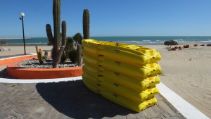 Kayaks for San Felipe Resort guests.