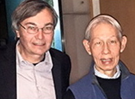 Anthropologist Thomas Csordas (left) and Dr. James Y. Chan