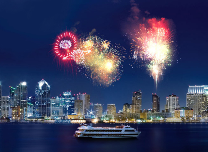 The San Diego Bay fireworks display has measureable economic benefits.