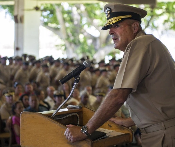 Rear Adm. Robert Girrier is the Navy's first director of unmanned weapons systems. (U.S. Navy photo)