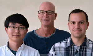 Scripps Research Institute Professor Kim Janda (center), Graduate Student Song Xue (left) and Research Associate Joel Schlosburg were authors of the new paper.