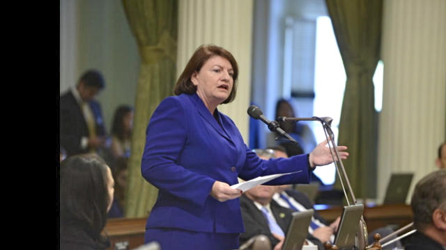 Assembly Speaker Toni Atkins at the Capitol.