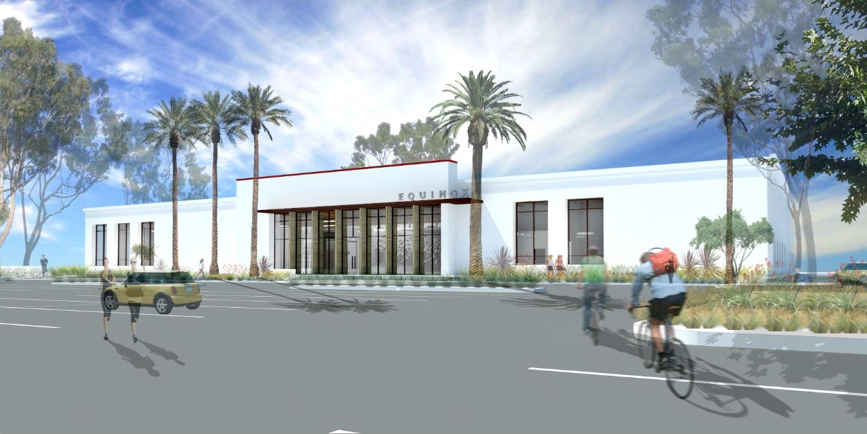 Rendering of Equinox -- the first to open in the San Diego region -- will occupy 31,000 square feet on the property .