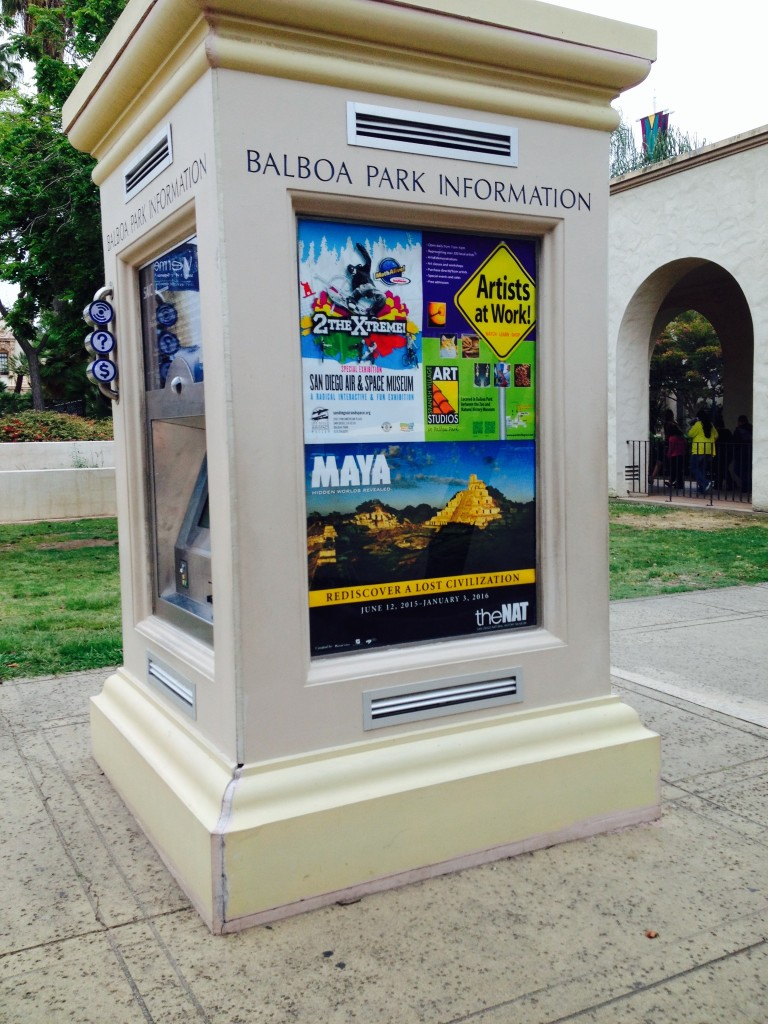 The five information kiosks placed around the park are the result of a partnership Friends has with the city. The kiosks provide the visitor with maps and information about the park's many attractions and have ATM machines.