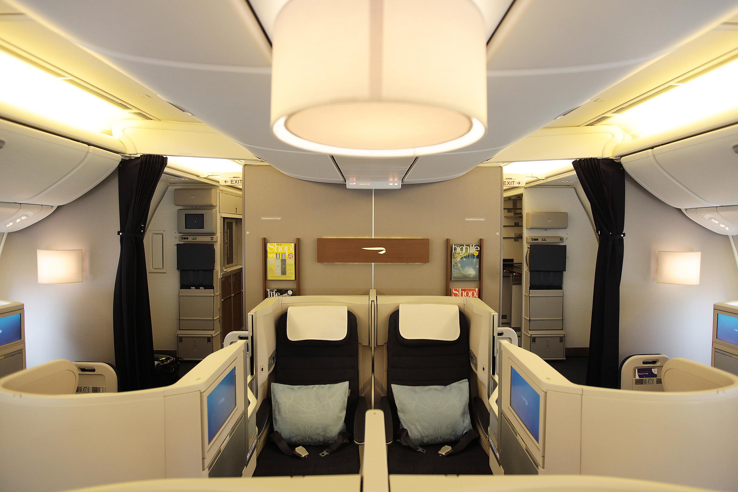 Seating arrangement in British Airways' Boeing 777-300.