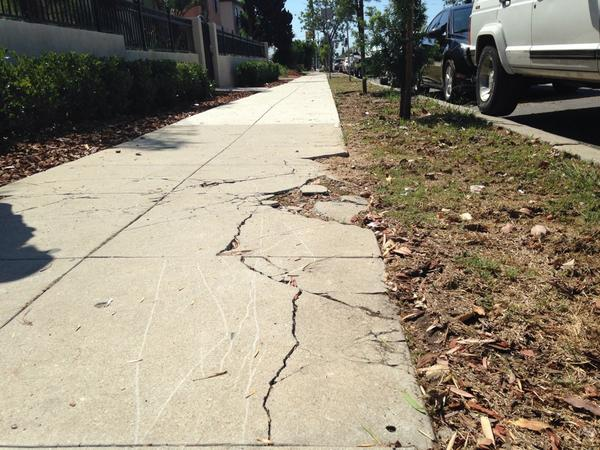 In the city's 4,500-plus miles of sidewalks, student engineers from San Diego State University and UC San Diego located the problem areas