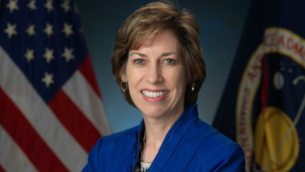 Ellen Ochoa, who flew four space shuttle missions as an optics specialist, is now the director of the Johnson Space Center in Houston.