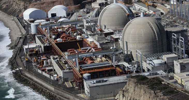 The San Onofre Nuclear Generating Station, shut down since 2012 and now being decommissioned.